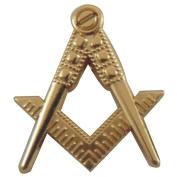 Hiram – Large Pin – Franc Maconnerie – Chisel Set Square and Compass - Frank Masonry