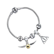 Harry Potter Silver Plated Charm Bracelet