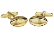 Rugby Ball Shirt Cufflinks in Gold or Silver Colour - Presented In GS Cufflink Box