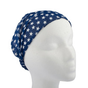 Lux Accessories American Stars Without The Stripes Stretch Blue Headband Head Band Wrap
