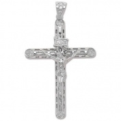 Large 925 Solid Sterling Silver Jesus Crucifix Pedant 8.5x5cm Hallmarked 27g