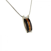 Enzo N46 Baltic Amber Sterling Silver Necklace Pendant Women's Necklace 40 cm Multi-Coloured