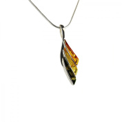 Enzo Women's Necklace with Pendant N67 Baltic Amber Sterling Silver Necklace 40 cm Multi-Coloured