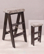 WUFENG Bar chair type Solid Wood folding staircase Stool Staircase Chair