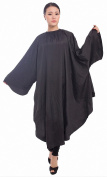 Maximum Cover Salon Hair Cutting Gown, Barber Hairdressing Colouring Cape With -