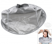Waterproof Adult Hair Cutting Fold Umbrella Cape Salon Barber Hairdressing