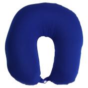 Battery Operated Neck Massager Soft Cushion Pillow Comfort Massage Travel Blue