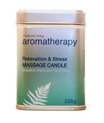 Natures Way Aroma Massage Candle - Relax & Stress - 226g