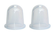 Silicone Massage Medium Body Cups Anti Cellulite Clear X 2 With Full