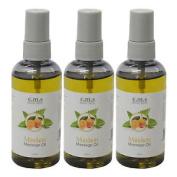 Triple Pack Of Aromatherapy Mandarin & Almond Oil Massage No Waste Spray 100ml