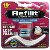 Dentemp Refilit Dental Cement Tooth Filling Cherry 2g-repairs Lost Fillings New