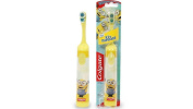 Colgate Minions Kids Battery Operated Toothbrush Small Oscillating Head, 2x #4vc