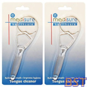 Medisure Healthcare Tongue Cleaner Twin Pack, 2 X Plastic Oral Hygiene Scrappers