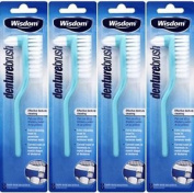 Four Packs Of Wisdom Denture Brush