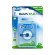 Two Packs Of Endekay Dental Floss Mint Flavoured 25 Mtrs