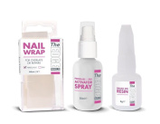 The Edge Nail Silk/ Fibreglass Wrap Trial Kit Nail Resin Overlay Repairs Natural