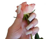 Extra Wide Long Natural Opaque False Nails For Men And Women From Pink Candy -