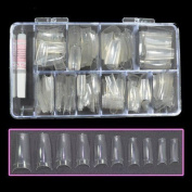 Bf New Professional Clear Nail Tips With Tip Box & Glue For Nail Extensions