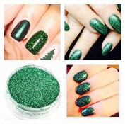 Mermaid Sparkle Emerald Green Acrylic Powder Pre Mixed Glitter Nail Extension 5g