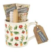 Heathcote & Ivory Gardeners Tea Break Hand Essentials - Wash, Cream, Brush & Mug