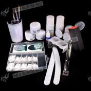 Full Set Professional Nail Art Acrylic Powder Tips Combo Uv Gel Decoration Kit