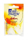 Nail Magic Active Short Round Nail Tips With Glue