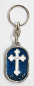 Orthodox Cross key chain in an oval shape with enamel colours