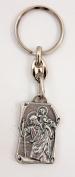 Saint Christopher key chain Patron saint of the travelers Christian Catholic key ring