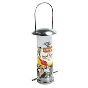 3x Seed Feeder Wild Bird Deluxe Stainless Steel Garden Hanging Wildlife Food