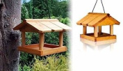 Hanging Wooden Bird Table New Locations Safe Wild Bird Feed Wooden Roof Panels