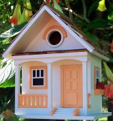 Peaches And Cream Cottage Style Novelty Bird House / Feeder / Nest Box