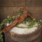 Round Wood Trading Jes001 Jesus On Crucifix Garden Statue/ornamen