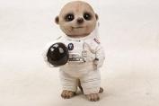 Vivid Arts Baby Meerkat - Astronaut Spaceman- Indoor Outdoor Garden Ornament