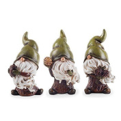 Birch, Flint & Forest The Seed Collecting Garden Gnome Figurine Ornament Trio