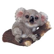 Koala Bear On A Branch Polyresin Garden Ornament For Tree Or Wall-mount