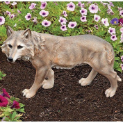 Bits And Pieces - Grey Wolf Sculpture - Garden Decor