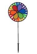 In The Breeze Rainbow Dazy Wheel Spinner - Ground Stake Included - Colourful Wind