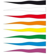Black Streamer Flag. Great To Fly From A Telescopic Flag Pole
