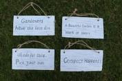 1 X Novelty Fun Hanging Decorative Stone Garden Sign, Design Selected Randomly!