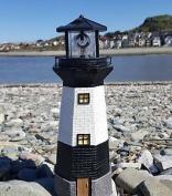 Solar Power Lighthouse Rotating Led Garden Light House Decoration Ornament