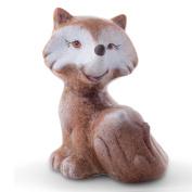 Nara The 13cm Sitting Terracotta Fox Animal Garden Or Home Ornament