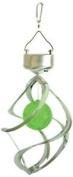 Benross Gardenkraft 17990 Stainless Steel Colour Changing Wind Spinner Solar