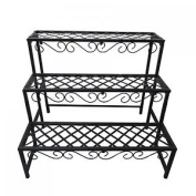 3 Tier Metal Garden Flower Plant Stand Display Shelf