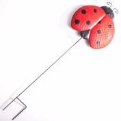 Decorative Metal Garden Ladybird On 420mm Stake Ornate Outdoor Decoration Rod