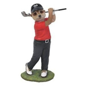 Discontinued Mini Meerkat Golfing(red) By Vivid Arts