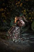 Smart Garden Metal Scroll Dog Solar Light