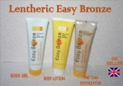 Lentheric Easy Bronze Instant Tan Body Gel, Lotion ,pre Exfoliator 150ml