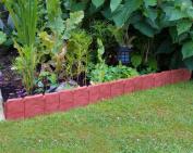 2.5m Woodside Red Border Fencing Panels Garden Flowerbed/path