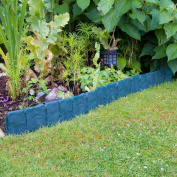 2.5m Woodside Green Border Fencing Panels Garden Flowerbed/path
