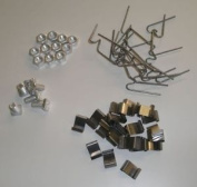 Greenhouse Repair Kit /parts - 100 W & 100 Z Clips, 100 Nuts & 100 Bolts
